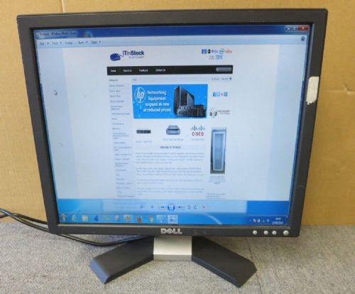 "Dell E176FPM MC043 17"" Inch Black LCD TFT Flat Screen Computer Monitor VGA"